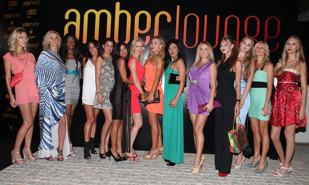 Amberlounge party abudhabi, Fame models